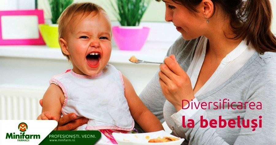 Alimentatie - diversificarea la bebelusi