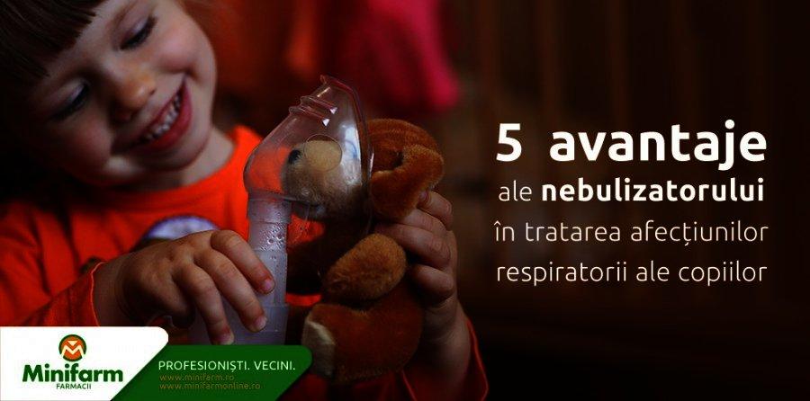 Cinci avantaje ale nebulizatorului in tratarea afectiunilor respiratorii ale copiilor