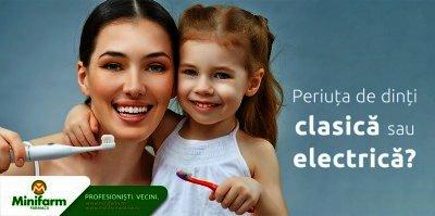 Periuta de dinti clasica versus periuta electrica: avantajele si dezavantajele fiecarui model