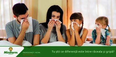 Tu stii ce diferenta este intre raceala si gripa?