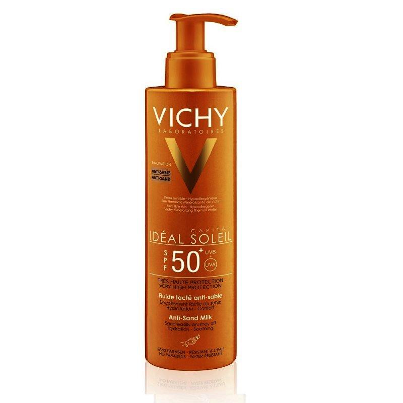 , IDEAL SOLEIL Lapte cu protectie solara Tehnologie Anti-Sand SPF50, VICHY