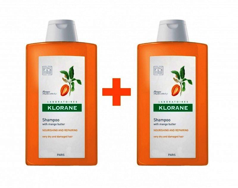, Klorane Duopack Sampon Mango x 400 ml, Lab. Pierre Fabre - Cosmetique