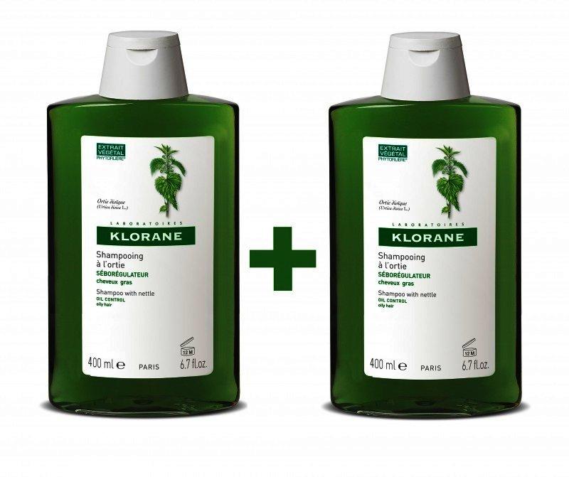 , Klorane Duopack Sampon Urzica x 400 ml, Lab. Pierre Fabre - Cosmetique