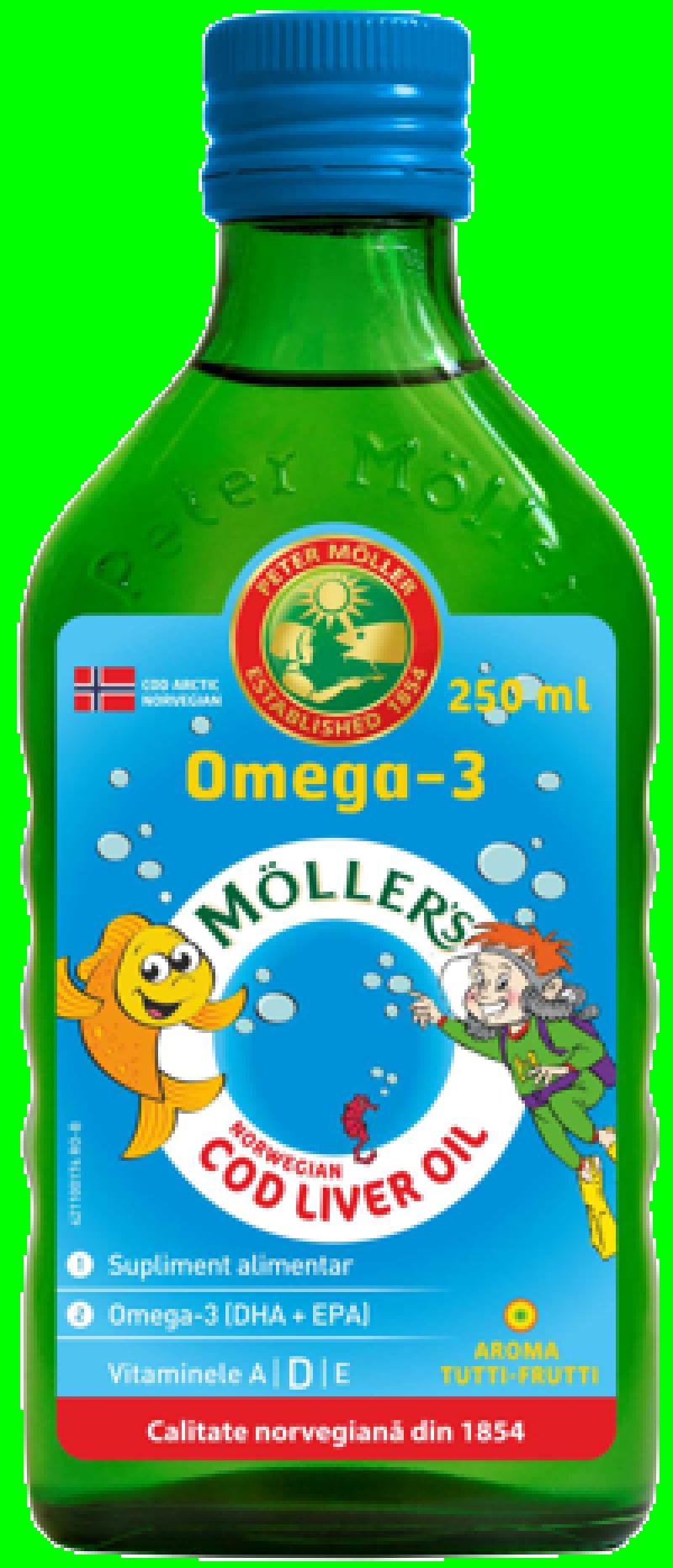 , Mollers Cod Liver Oil Omega 3 Tutti Frutti x 250 ml, Orkla Health AS