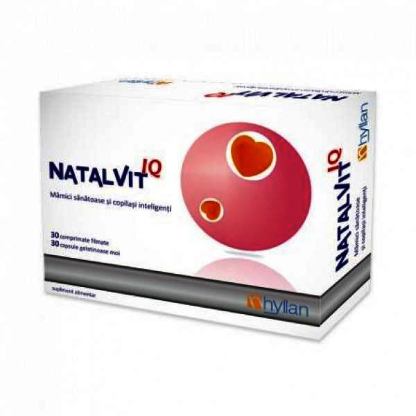 , Natalvit IQ -cps x 30 + cps moi x 30 + Botosei, HYLLAN PHARMA