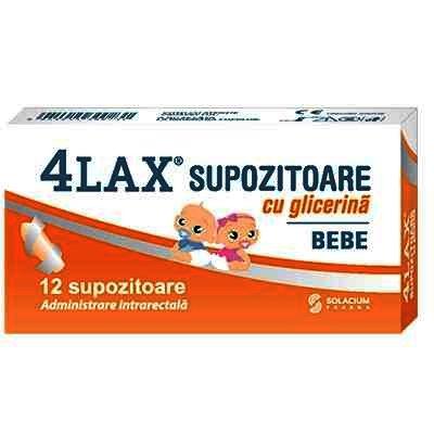 4Lax Supozitoare Bebe x 12 - Solacium