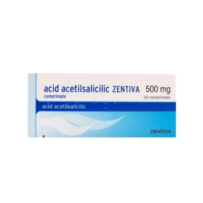 Acid Acetilsalicilic 500mg x 20 cpr - Zentiva (W56628001)