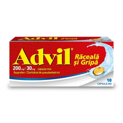Advil Raceala si Gripa 200mg/30mg -cps.moi x 10 -Pfizer (W65290004)