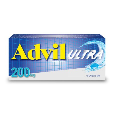 Advil Ultra 200 mg - capsule moi x 10