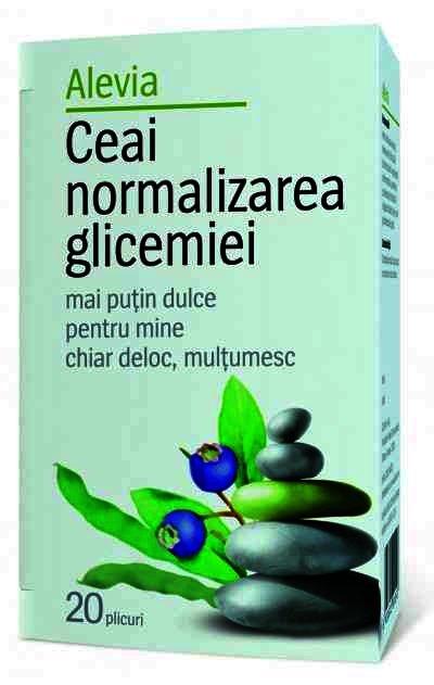 Alevia Ceai Normalizarea Glicemiei -plc x 20