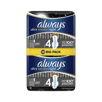 Always Ultra Night Absorbante x 12