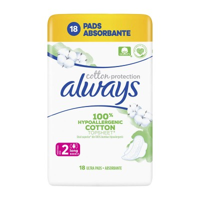 Always Cotton Protection Long Absorbante x 18
