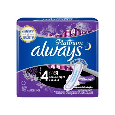 Always Platinum Night Absorbante x 5