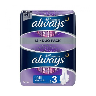 Always Platinum Night Duo Pack Absorbante x 12