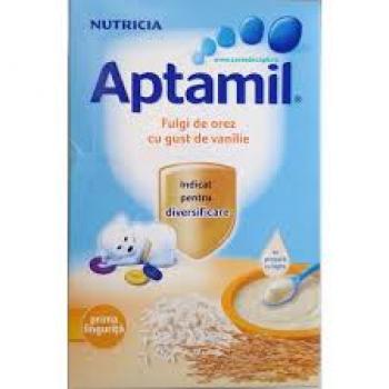 Aptamil Cereale Fulgi de Orez cu Gust de Vanilie x 200 g