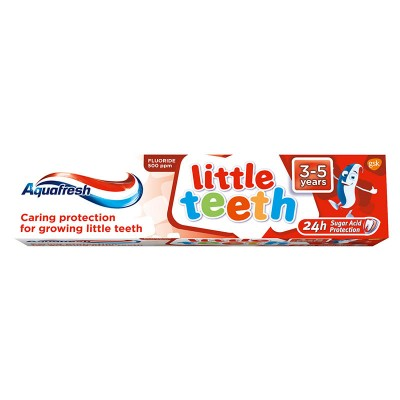 Aquafresh Pasta de Dinti Little Teeth 3-5 ani x 50 ml