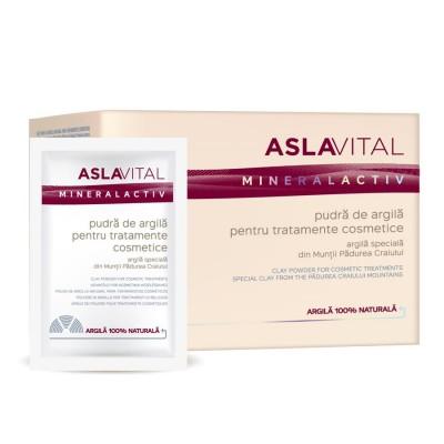 Aslavital Mineral Activ Pudra Argila pentru Tratamente Cosmetice - plicuri x 10