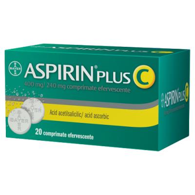 ASPIRIN PLUS C 400 mg/240 mg x 20 comprimate efervescente