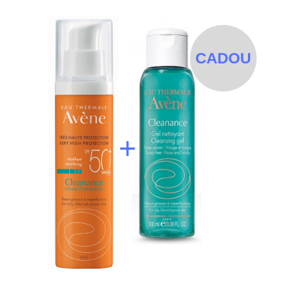 Avene Cleanance Fluid SPF50+ x 50 ml + Cleanance Gel x 100 ml (Cadou)