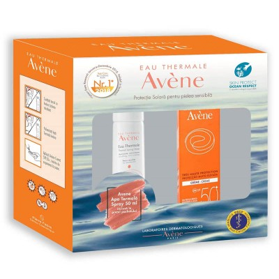 Avene Crema SPF50+ x 50ml+Apa Termala Spray x 50ml (Cadou)