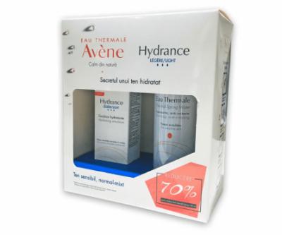 Avene Hydrance Optimale Legere x 40ml + Avene Apa Termala x 150ml (1+1x70% Oferta)