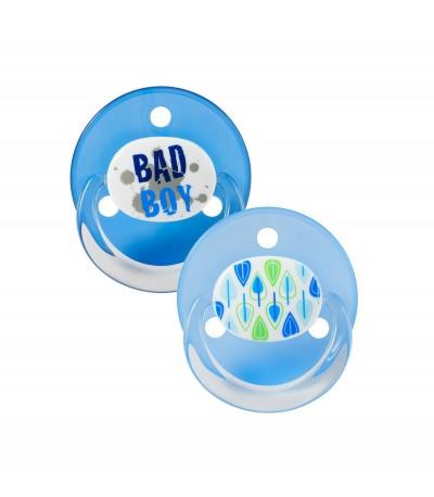 Baby Nova 26110 Suzete Latex Rotund Decorate Inel Transparent