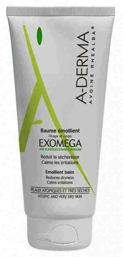Balsam emolient pentru bebelusi, copii, adulti cu piele atopica sau uscaciune intensa A-Derma Exomega, 200ml