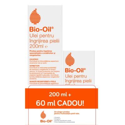 Bio-Oil, ulei pentru ingrijirea specializata a pielii, 200 ml + Cadou 60 ml