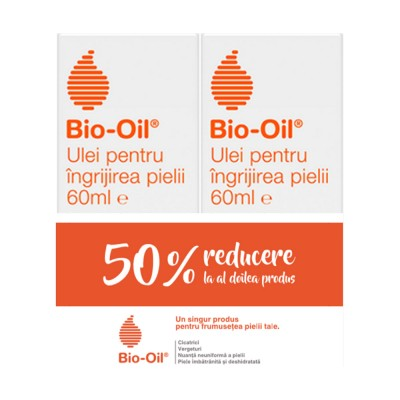 Bio-Oil, ulei pentru ingrijirea specializata a pielii, 60 ml (1+1x50% Oferta)