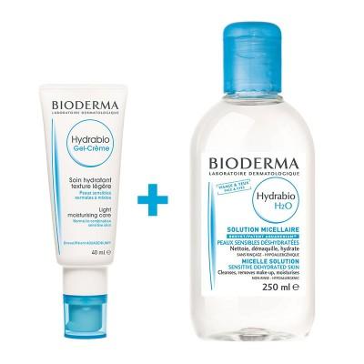 Bioderma Hydrabio Gel-Crema x 40ml + Hydrabio H2O x 250ml (1+1-70% Oferta)