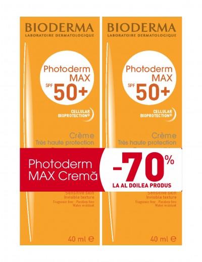 Bioderma Photoderm Max Crema SPF 50+ x 40 ml (1+1 -70% reducere la al doilea produs)