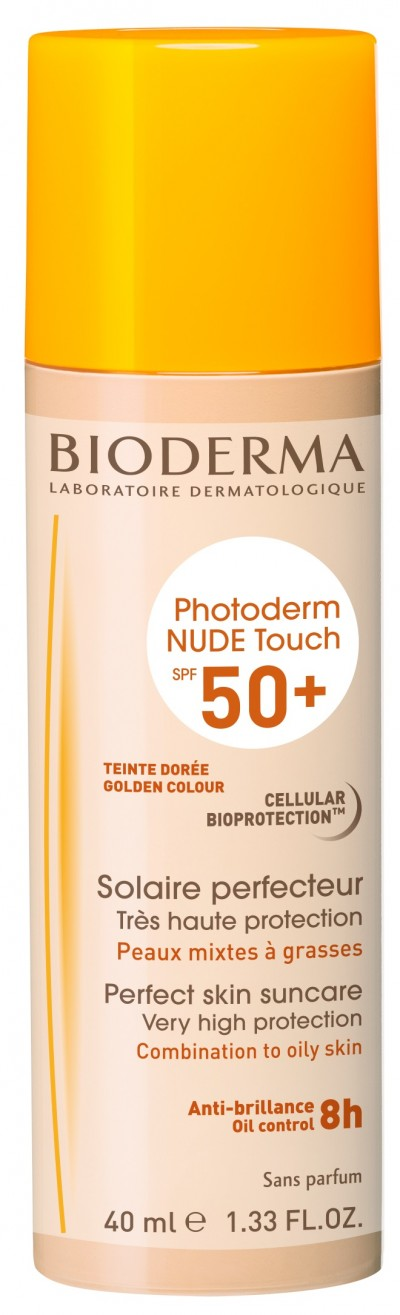 Bioderma Photoderm Nude Touch Doree SPF 50+ nuanta aurie x 40ml + Burete