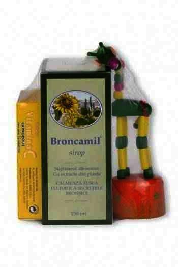 Broncamil -sirop x 150 ml - Bioeel + Vit. C Propolis -cpr x 20 + CADOU