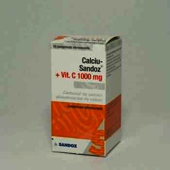 Calciu Sandoz Osteo 1000mg/880UI cpr x 30