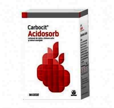 Carbocit Acidsorb - cpr.mast. x 30 - Biofarm