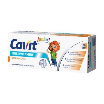 Cavit Junior Multivitamine Caise - comprimate masticabile x 20 - Biofarm