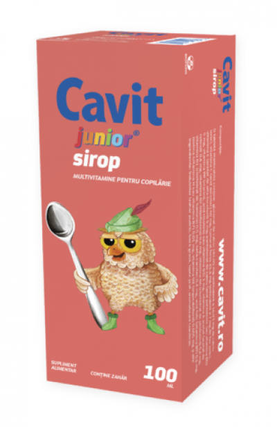Cavit Junior-sirop x 100ml-Biofarm