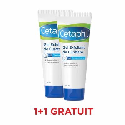 Cetaphil Gel Exfoliant de Curatare x 178 ml - Galderma (1+1 Gratis)