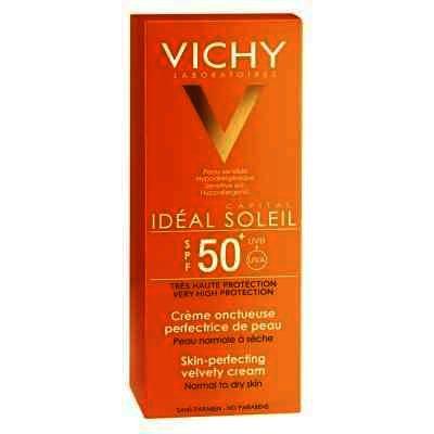 Cremă de faţă Vichy Ideal Soleil Cremă onctuoasă cu actiune de uniformizare a tenului SPF 50, 50ml