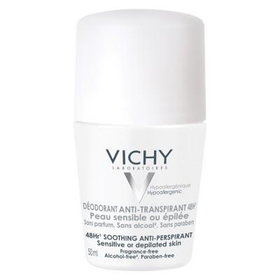 Vichy Deo Roll On Antiperspirant Cu Eficacitate 48h Fara Parfum Piele Sensibila 50 Ml