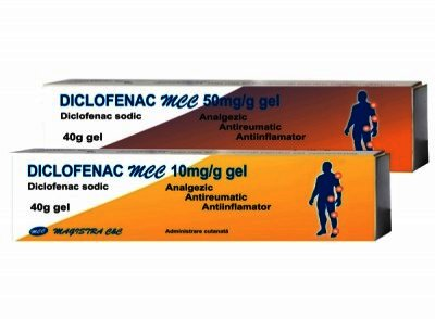 Diclofenac MCC 50 mg/g -gel x 40 g - Magistra