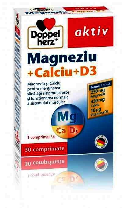 Doppel Herz Aktiv Mg+Ca+D3 -cpr. x 30