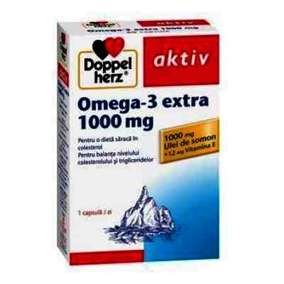 Doppel Herz Aktiv Omega 3 Extra 1000 mg -cps x 60