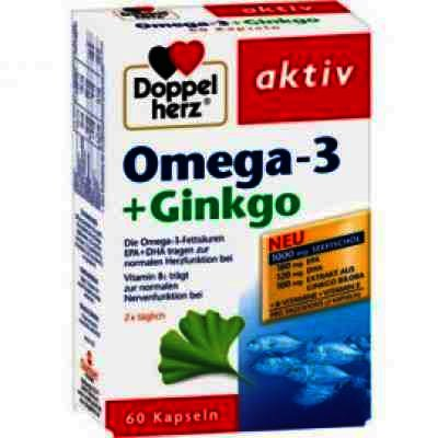 Doppel Herz Aktiv Omega 3 + Ginko Biloba -cps x 60