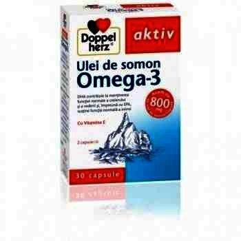 Doppel Herz Aktiv Omega 3 Ulei Somon 800 mg -cps x 30