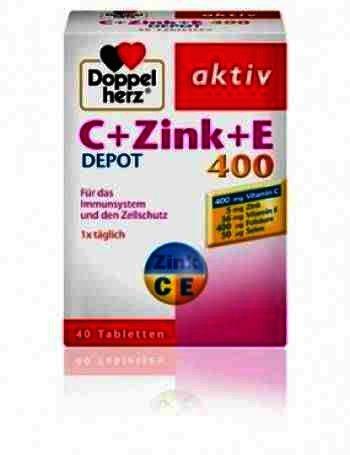 Doppel Herz Aktiv Vit C + Zinc + Vit E Retard -tb x 40