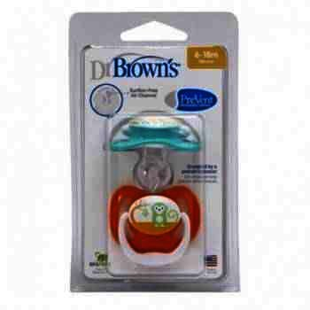 Dr.Brown's Suzeta Silicon PreVent Niv.2 x 2 designs Mixed colour