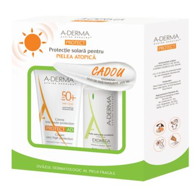 Ducray Aderma Protect Ad Crema Atopie SPF50+ x 150 ml + Exomega Ulei Dus x 200 ml Cadou