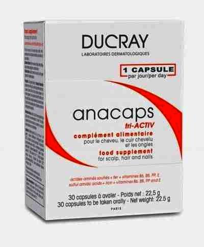 Supliment pentru par si unghii Ducray Anacaps Triactiv, 30 capsule