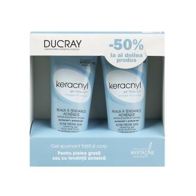 Ducray Keracnyl Gel Curatare x 200 ml(1+1x50% Oferta)